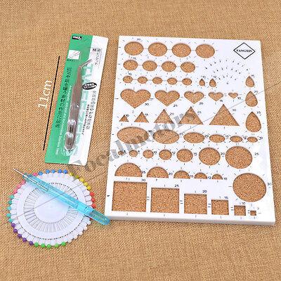 4PCS Paper Quilling Temlated Kit DIY Paper Craft Tool Plastic Scrapbook Tool Set