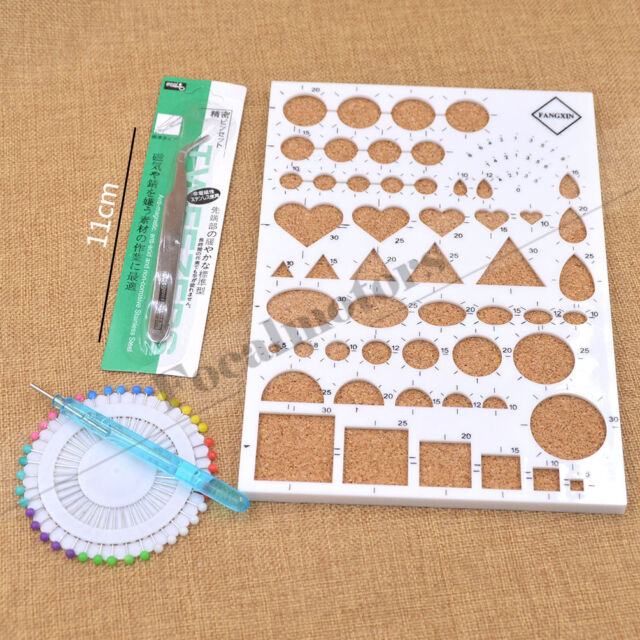 4PCS Paper Quilling Temlated Kit DIY Paper Craft Tool Plastic Scrapbook Tool Set