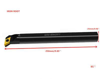 S25S-SDQCR11 CNC Lathe Internal Turning Tool Holder For DCMT11 Insert