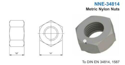 Kunststoff Mutter Sechskantmutter M3 DIN EN 34814 1587 10 Stück