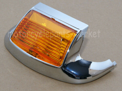 Front Mud Guard Trim Fender Tip LED Light For Harley Classic Road King Glide FL