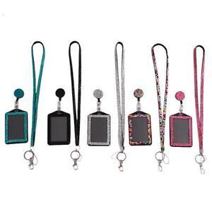 Retractable-Reel-Bling-Bling-Crystal-Lanyard-Cell-Phone-Vertical-ID-Badge-Holder