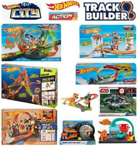 Hot Wheels Track Builder Set-power Booster Kit/spin Lancer/turn Kicker-neuf-ction Track & Play Sets - Brand New Boxed Fr-fr Afficher Le Titre D'origine Et D'Avoir Une Longue Vie.