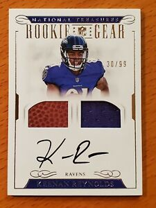 Details about 2016 National Treasures Rookie Gear Jersey Auto #40 Keenan Reynolds #'d 30/99