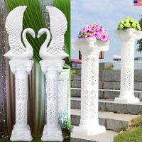 2-8 Roman Art Plastic Pillars / Swan Columns Hold For Wedding Party Market Event