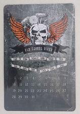 Blechschild Wandbild Nostalgie #24 Old School Biker Kalender