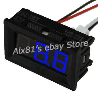 C27D Digital LED Display DC 0~50A Blue Amp Panel Ammeter Ampere Meter DC 4.5~28V