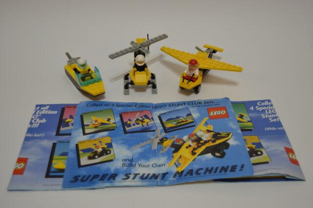 Vintage Lego Stunt Club Sets Kelloggs 1990 Complete w ...