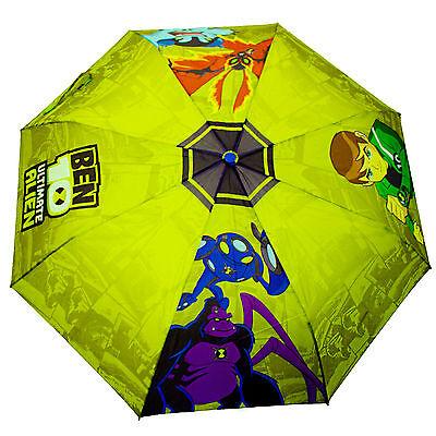 Ben 10 Bambini Ombrello Perletti Ultimate Alien Ragazzi Pioggia Verde