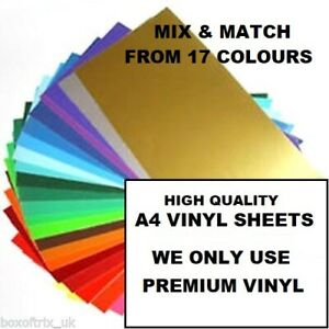 5X-Matt-Self-Adhesive-Vinyl-A4-SHEETS-SILHOUETTE-CAMEO-CRAFT-ROBO-Sticky