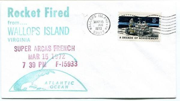 1972 Wallops Island Rocket Fired Super Arcas French Fi5933 Wff Goddard Base Nasa