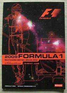 BRITISH-GRAND-PRIX-2009-SILVERSTONE-FORMULA-ONE-F1-Official-Programme