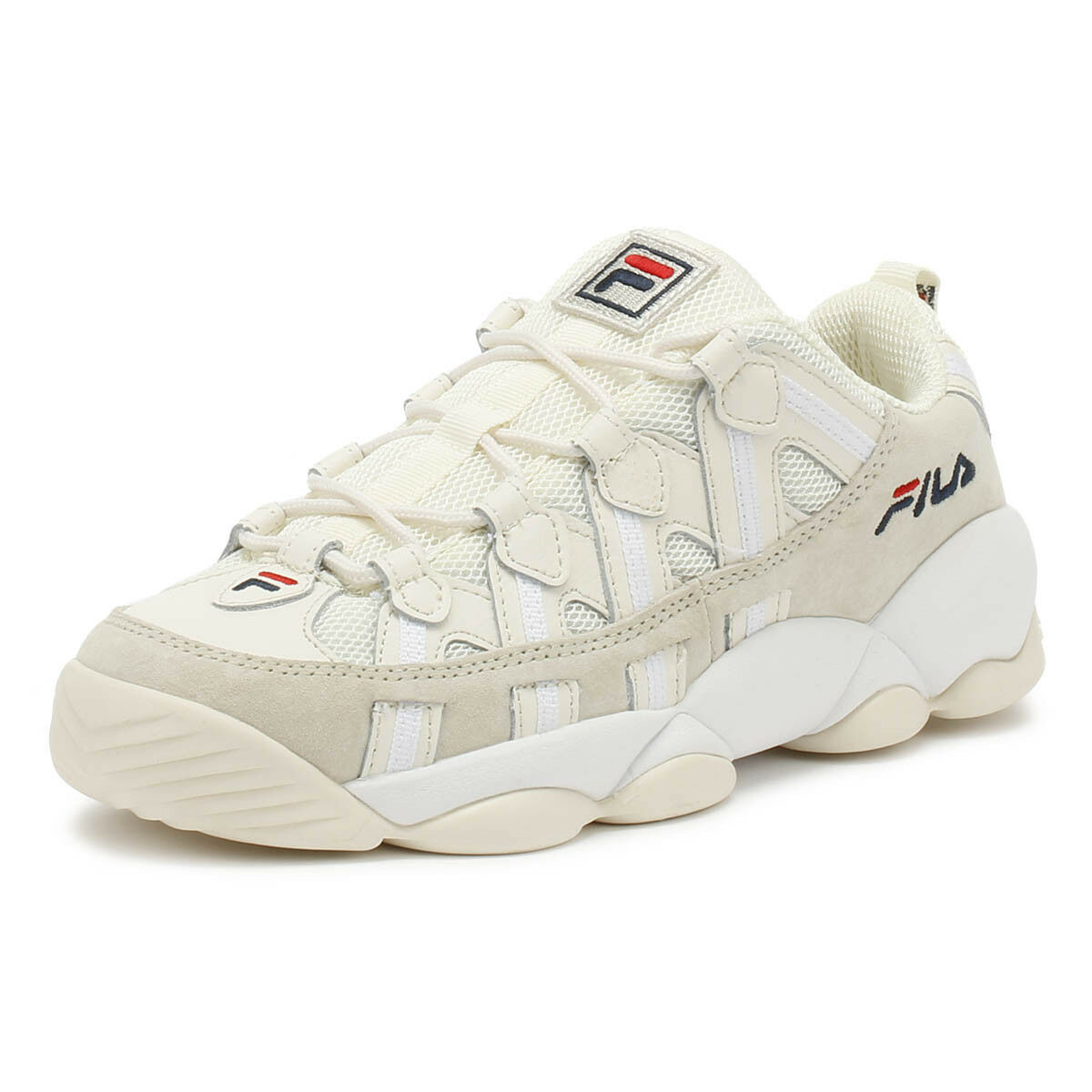 Fila Unisex Trainers Spaghetti Low White Lace Up Sport Casual Walking shoes