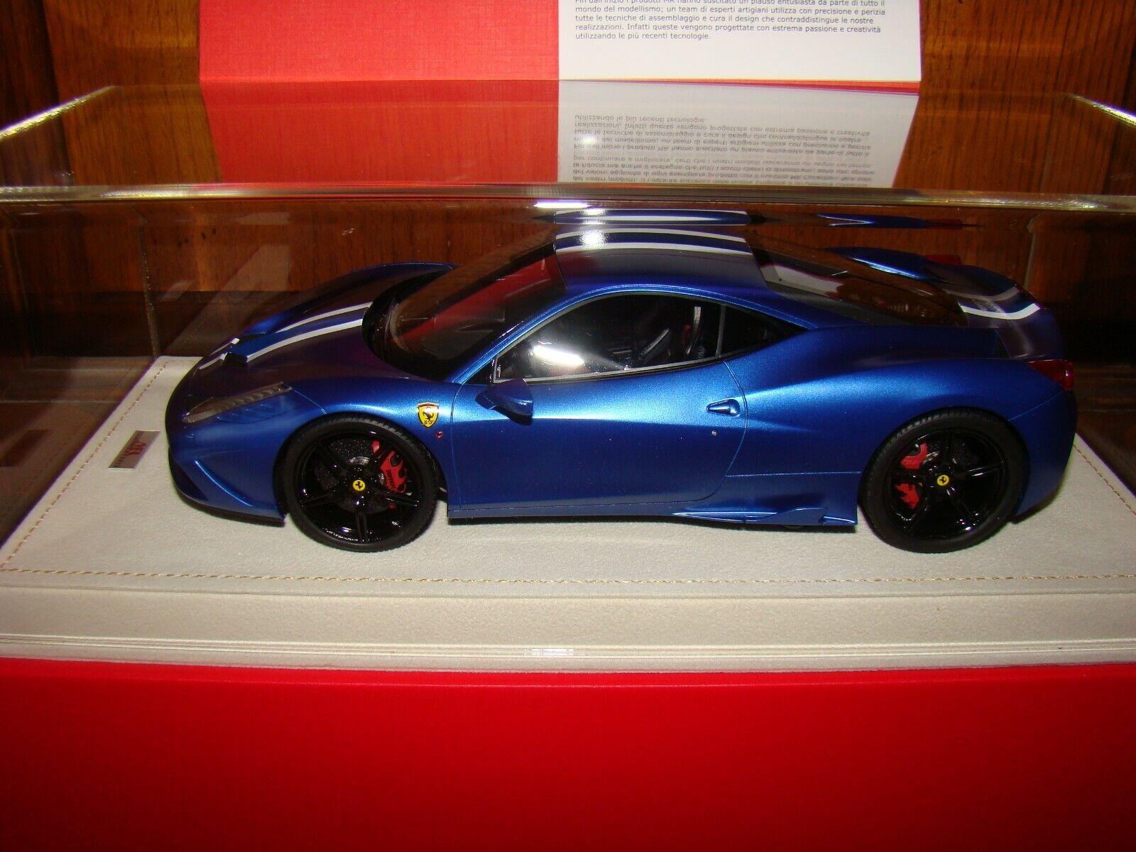 comprar nuevo barato FERRARI 458 SPECIALE  MR COLLECTION  MATT azul    1 18 EME  SPECIALE NEW ACE RARE  venta