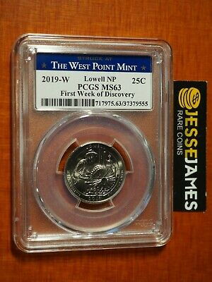 2019 W 25C WAR IN THE PACIFIC NP FIRST WEEK OF DISCOVERY PCGS MS65