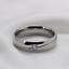 Fedine-Fidanzamento-Anelli-Anello-Fede-Acciaio-Inox-Argento-Solitario-Fascia-Lov miniatura 4