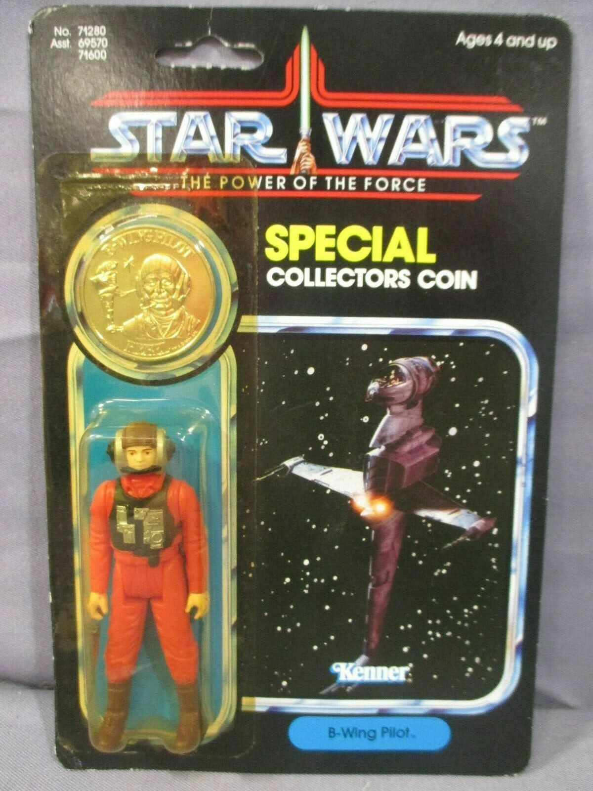 STAR WARS Vintage B-WING PILOT Power of the Force Factory Sealed POTF 1984