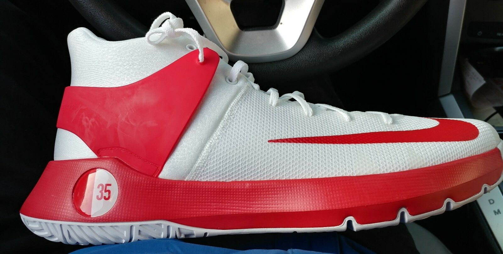 Nike KD Trey 5 Sz 17 TB Basketball Shoe White Red 856484-161 Rare Kevin Durant best-selling model of the brand