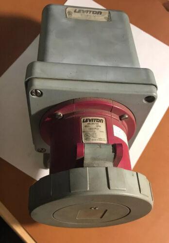 LEVITON 460R7W 60A 3PH 480VAC FEMALE RECEPTACLE WITH BX60-V BOX.