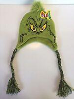 Grinch Laplander Beanie Knit Hat Dr Seuss