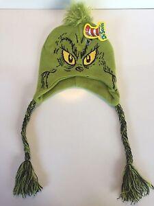 Grinch Laplander Beanie Knit Hat Dr Seuss Peruvian Cap 887439806188 ... 06a3446f765