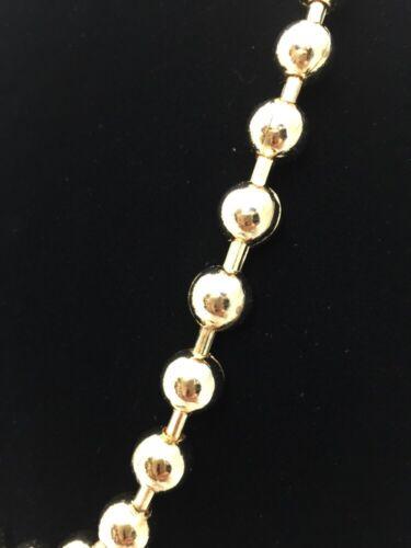 """Cadena única Men//lady 24 /""""pesado oro Color eslabón de la cadena bola Collar Joyas 8"""