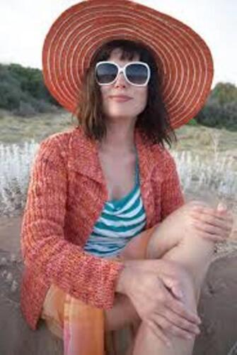 Beautiful Design! SOPHIA CARDI  Knitting Pattern by Colinette Yarns
