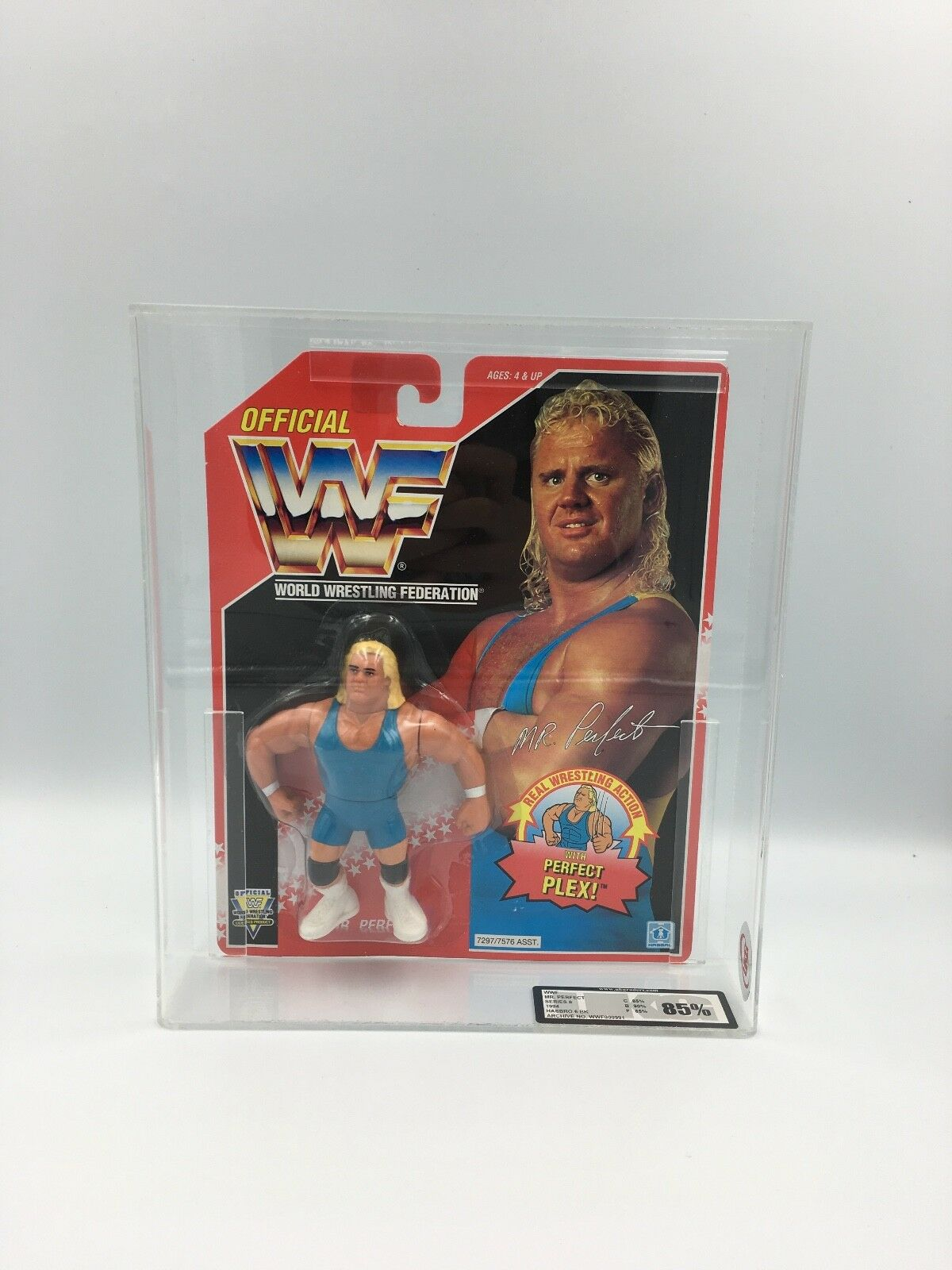 WWF Hasbro Mr Perfect, Series 8, 1994 Carded Figure-UKG not AFA graded 85%