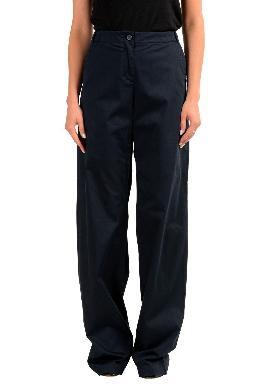 Gianfranco Ferre  GF  Women's Navy bluee Wide Leg Casual Pants US 26 IT 40