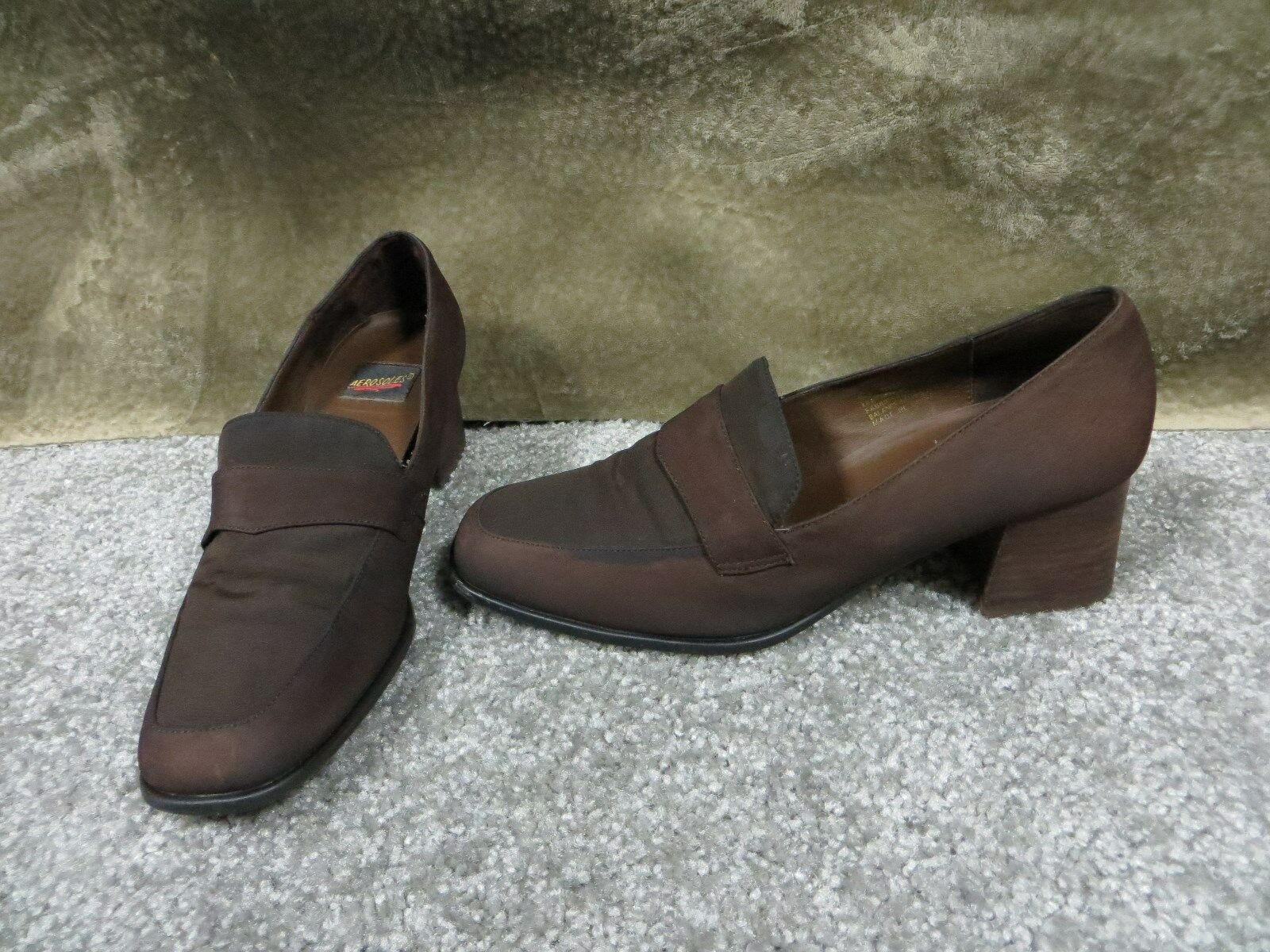Aerosoles Dark/Med Brown Comfort Size Slip On Dress Shoes, Size Comfort 9 ef379e
