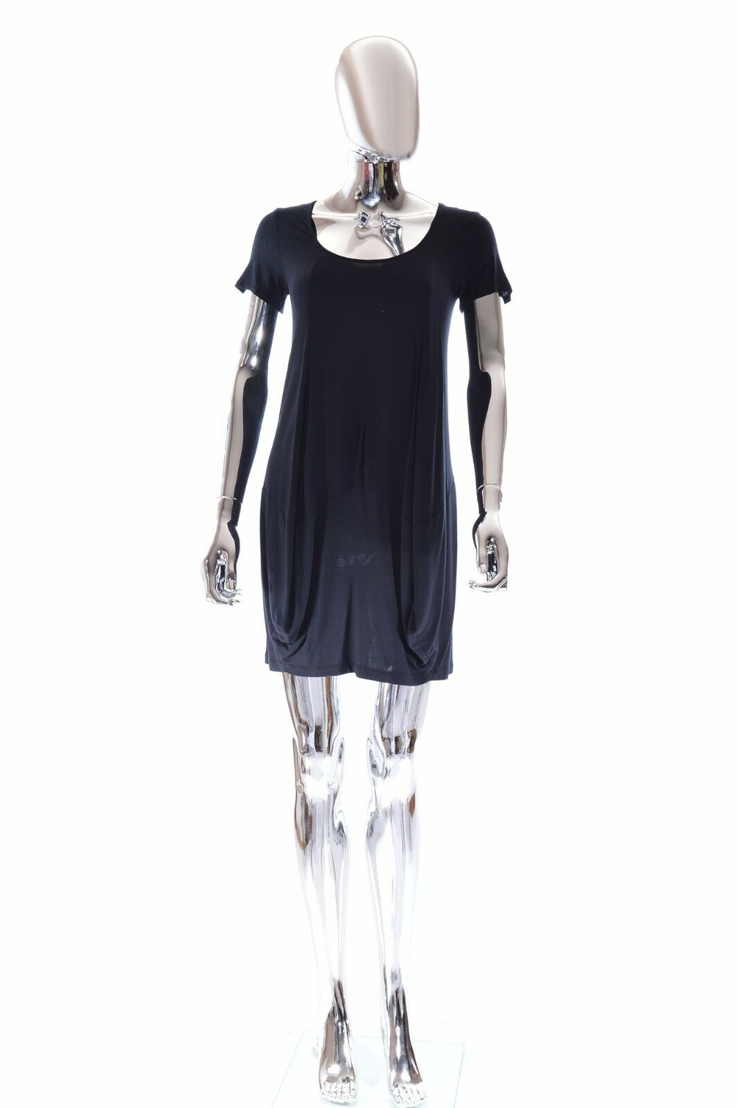 Vivienne Tam Dress with Short Sleeves Scoop Neck & Stretchy Knit - Pristine - XS