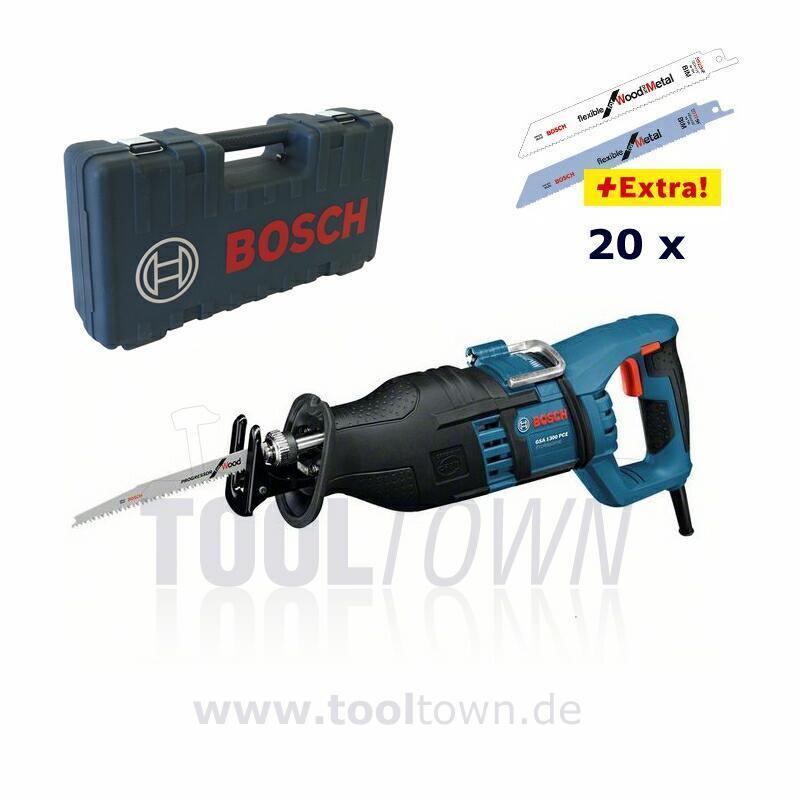 Bosch GSA 1300 PCE inkl. 20 Sägeblättern S 922 BF HF - Säbelsäge Reciprosäge