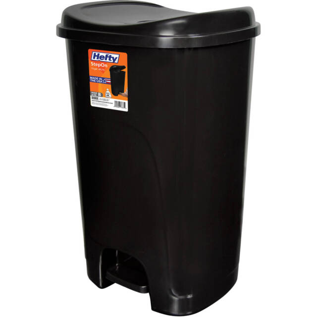 Black 13 Gallon Trash Can with Step On Foot Pedal Raise Lid Kitchen Garbage  Bin
