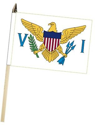 United States Virgin Islands Small Hand Waving Flag