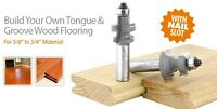 Amana Tool Solid Tongue And Groove Flooring Router Bit Set 2 Flute 55456