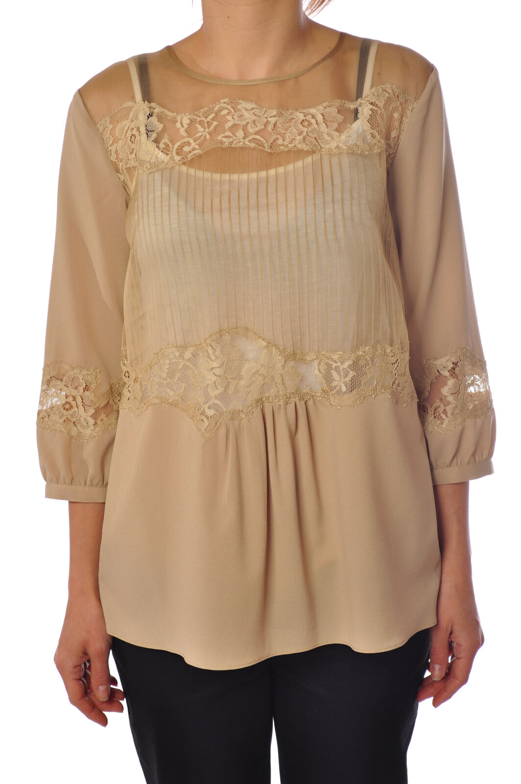 Twin Set  -  Shirt - Female - Beige - 2024006A184228