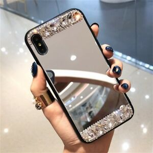 new arrival 1ee0e b7254 Details about Luxury Mirror Phone Case Cover Diamond Crystal For Apple  iPhone 6S 7 8 X Xs Max