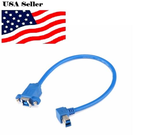 "12/""  Right Angle Short USB 3.0 Type B Male to B FeMale Cable New 30cm"