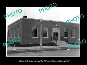 Details about OLD 8x6 HISTORIC PHOTO OF ALBION NEBRASKA US POST OFFICE  BUILDING c1940