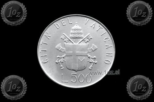 UNC VATICAN 500 LIRE 1981 Pope JOHN PAUL II coin SILVER Commemor KM# 160