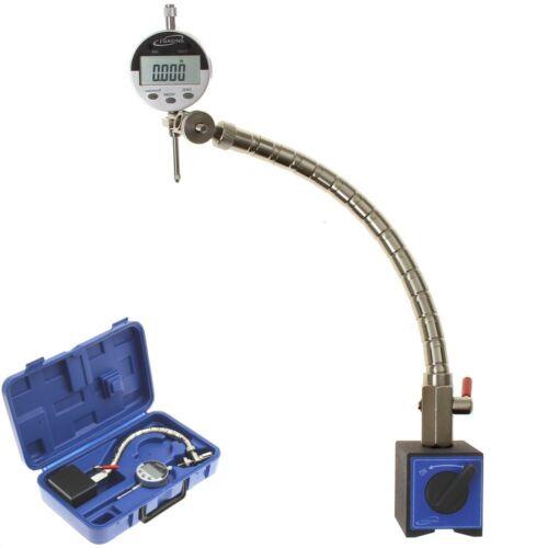 "Flexible Arm Magnetic Base Digital Indicator 1/""//0.0005/"" Machinist Engine Tools"