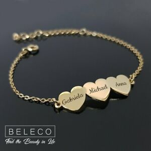 Details About Personalized Bracelet For Mom Kids Names Charms Mothers Gift