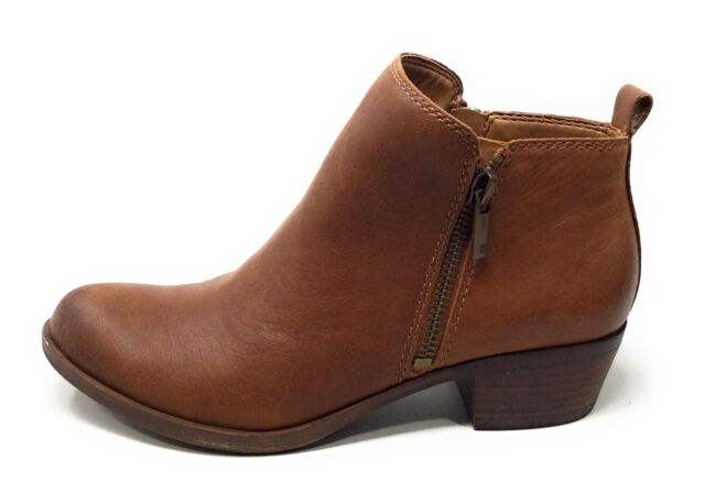 Lucky Brand Womens Basel Ankle Boots Brown Leather Size 6 M US