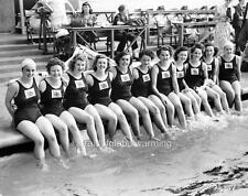 Photo.  London, UK.  1948 Olympics - British Women's Swimming Team