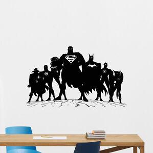 Image Is Loading Superheroes Wall Decal Superman Batman Superhero Vinyl  Sticker