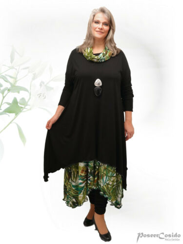 Tee Long XL Poco Long Long shirt Dream Lagenlook Kleid Tunika Design xwqAw1Ig