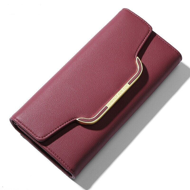 Large Trifold Long Women Wallet Ladies Fashion Phone Card Holder Clutch Bag Gift