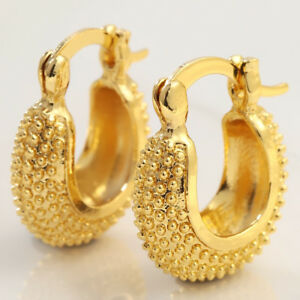18K-Yellow-Gold-Filled-Wedding-Engagement-Hoop-Drop-Dangle-Earrings-Jewelry