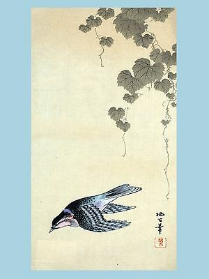2792.Japanese Bird POSTER.Delicate Asian Oriental Room Home art decoration