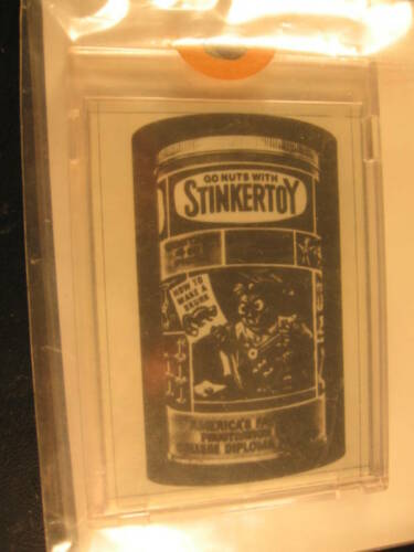 1980 Topps Wacky Packages Negative Stinkertoy